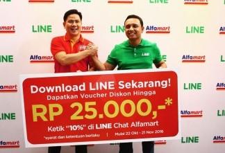 LINE Ajak Penggunanya Belanja di Alfamart
