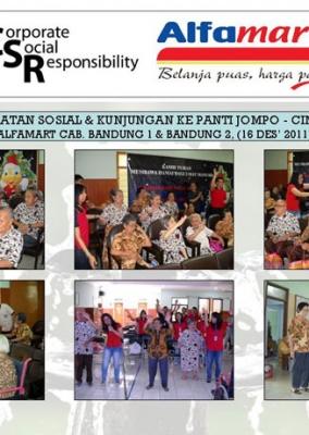 Kegiatan Sosial Kunjungan ke Panti Jompo Cimahi oleh Karyawan Alfamart Cab Bandung Bandung 16 Desember 2011