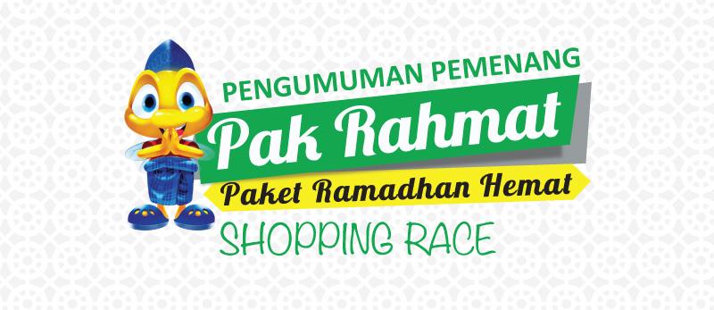 Pengumuman Pemenang Pak Rahmat Shopping Race