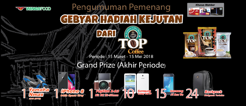 Top Coffee Gebyar Hadiah Kejutan