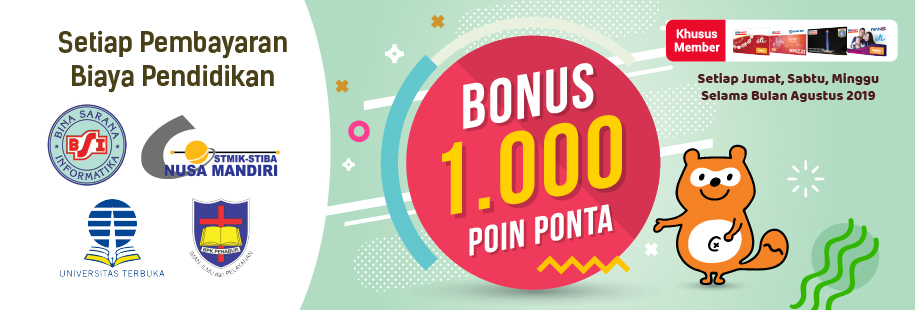 Bonus 1.000 Poin Ponta