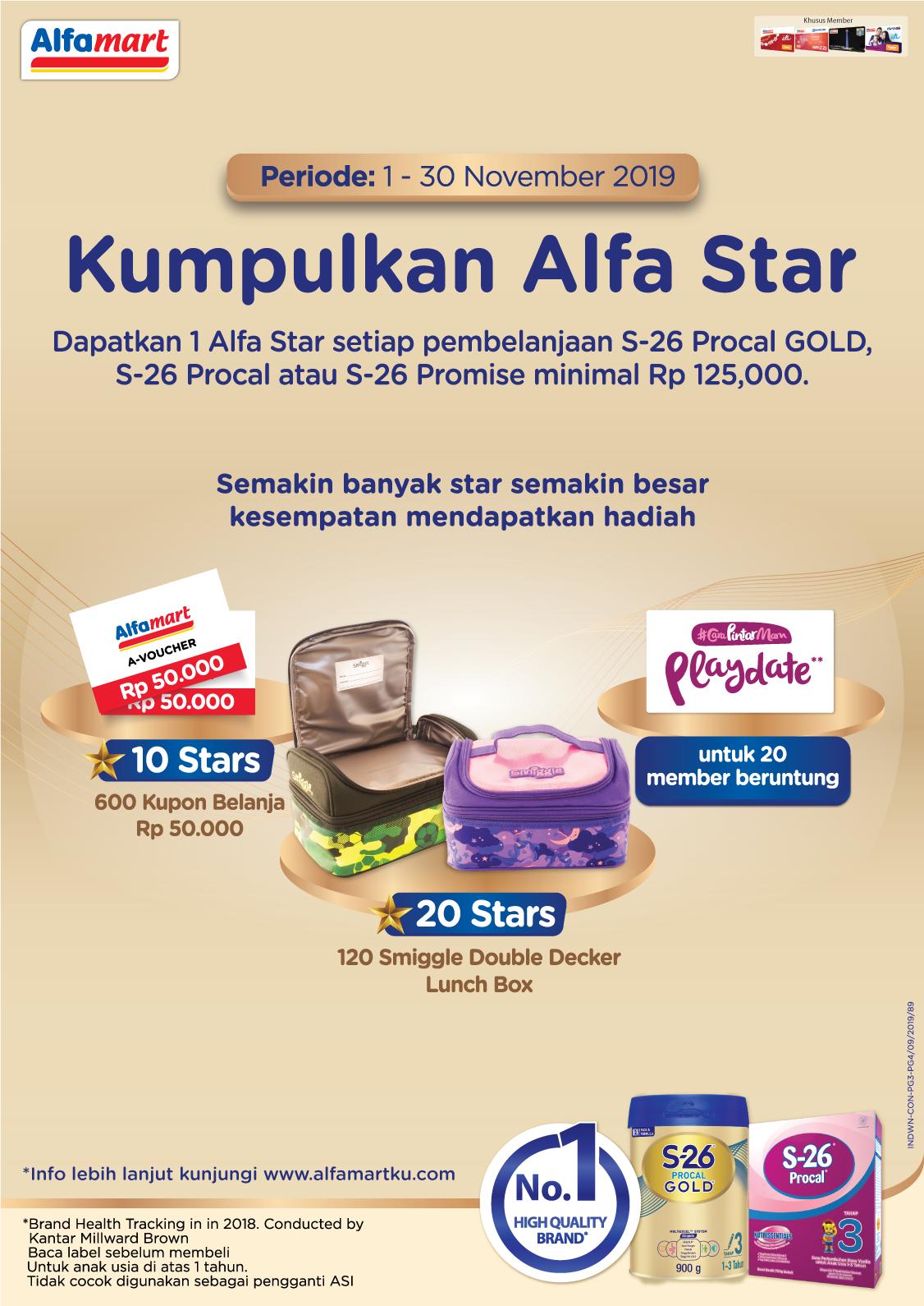 Kumpulkan Alfastar di Program S- 26 Procal Gold