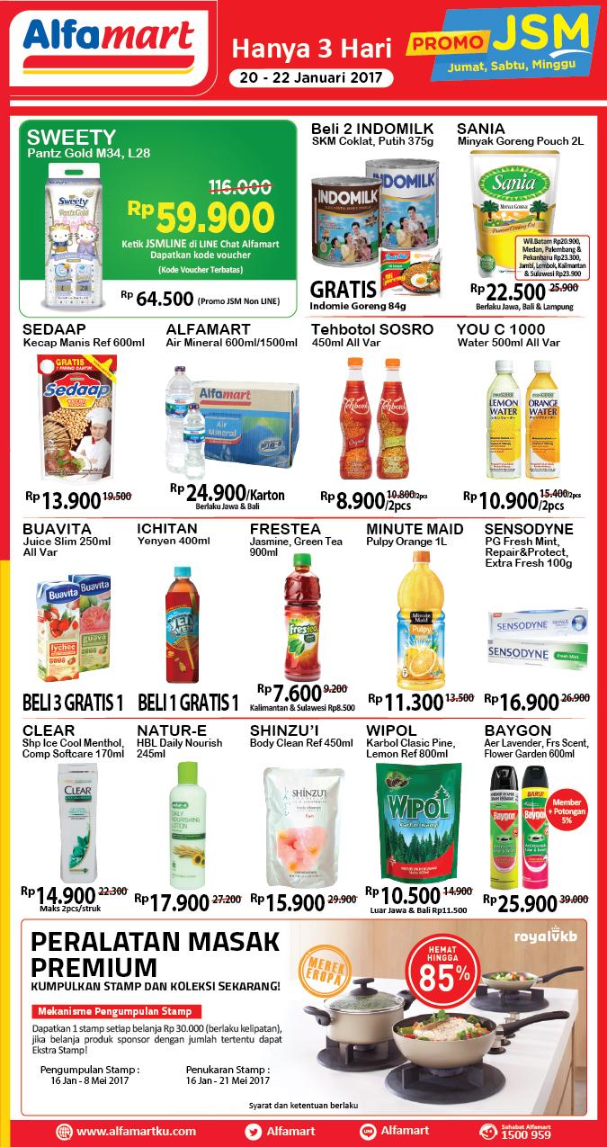 Promo Alfamart Akhir Pekan Jumat Minggu 20 22 Januari 2017