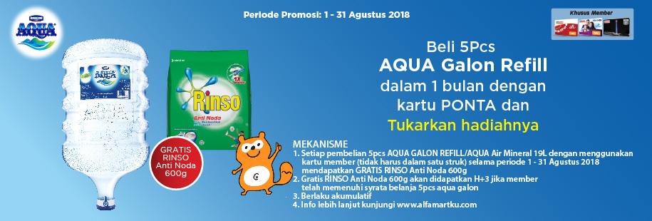 Aqua 1-31 Agustus 2018