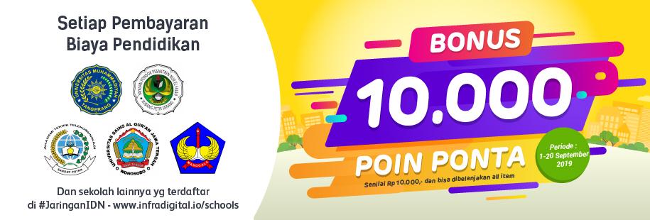 Bonus 10.000`Poin Ponta