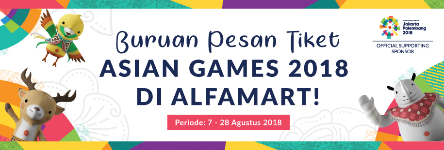 Tiket Asian Games 7 - 28 Agustus 2018