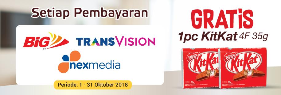 TV Berlangganan 1 - 31 Oktober 2018