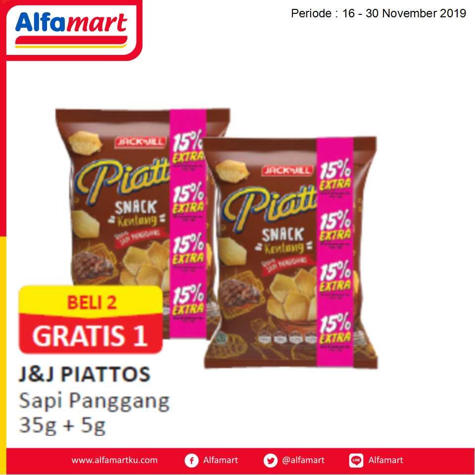 BELI 2 GRATIS 1 J&J Piattos Sapi Panggang 35g + 5g