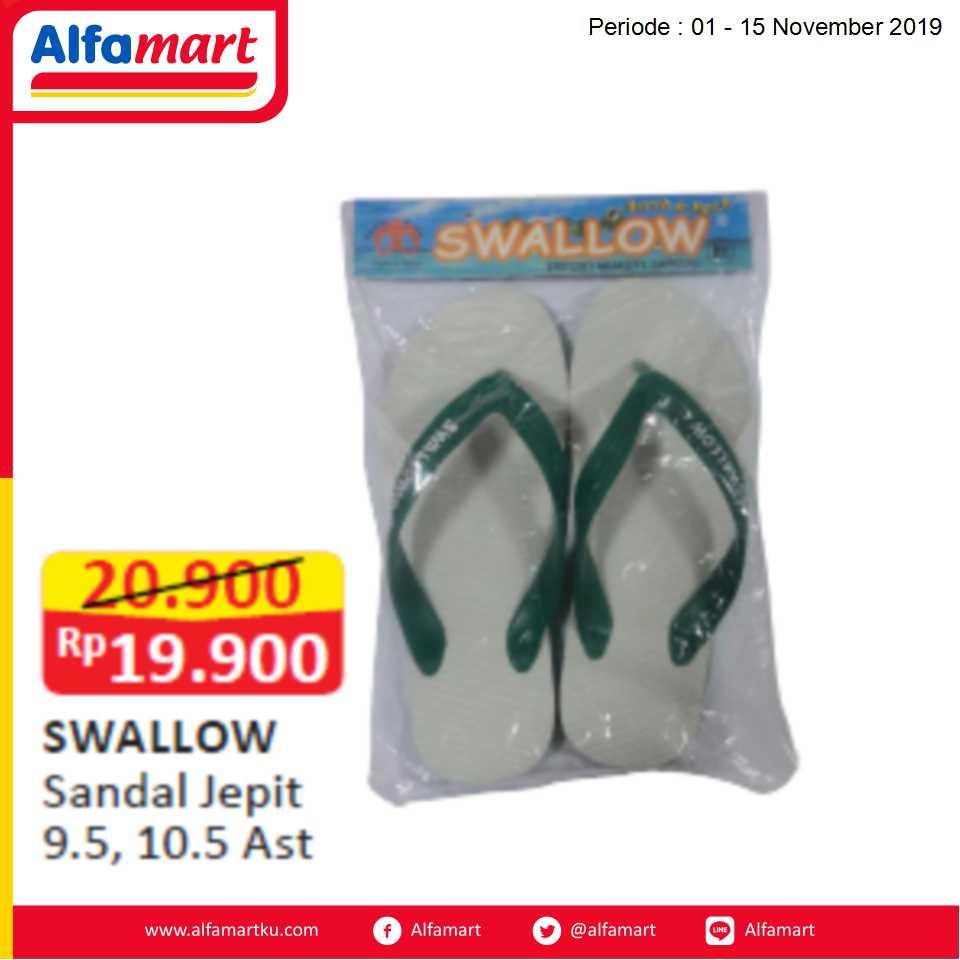 SWALLOW Sandal Jepit 9.5, 10.5 Ast