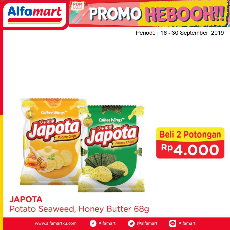 JAPOTA POTATO SEAWEED, HONEY BUTTER 68G