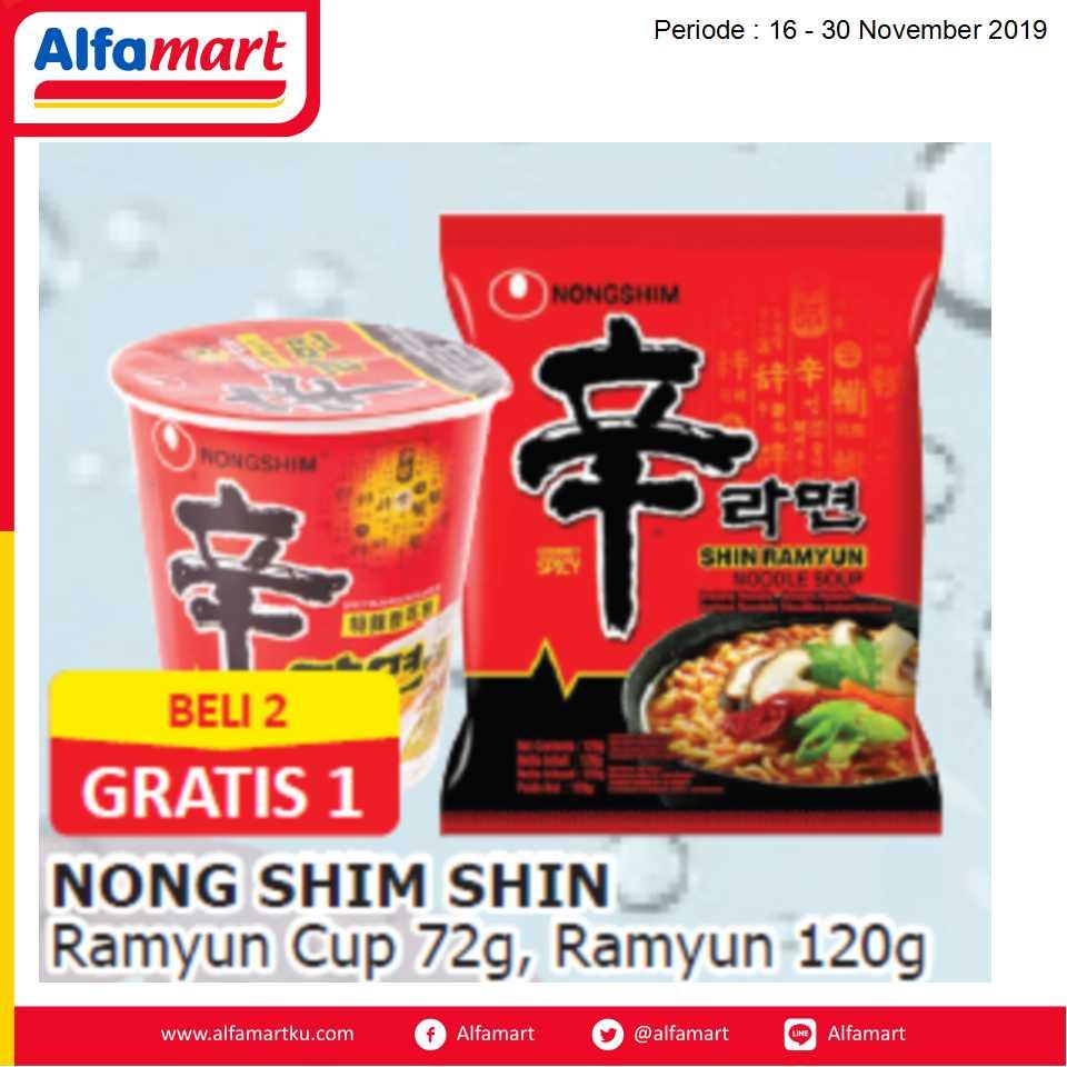 BELI 2 GRATIS 1 Nong Shim Shin Ramyun Cup 72 & 120g