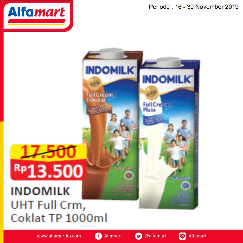 INDOMILK UHT full Crm, Cokelat Tp 1000ml