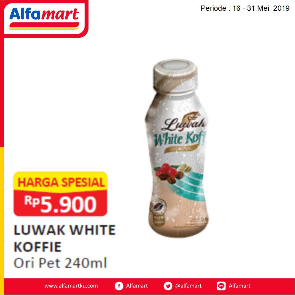 LUWAK WHITE KOFFIE ORI PET240ML
